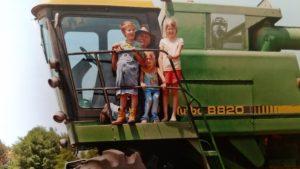 kids on combine
