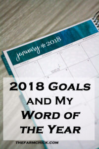 2018 goals and word of the year