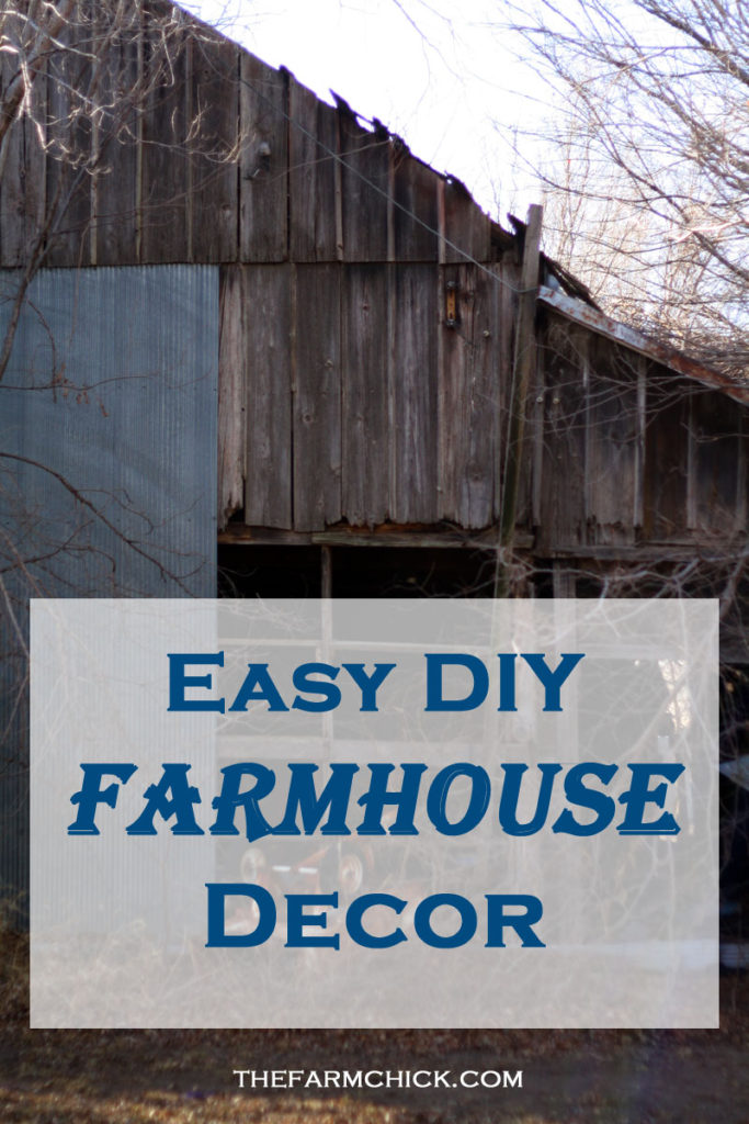 easy diy farmhouse decor