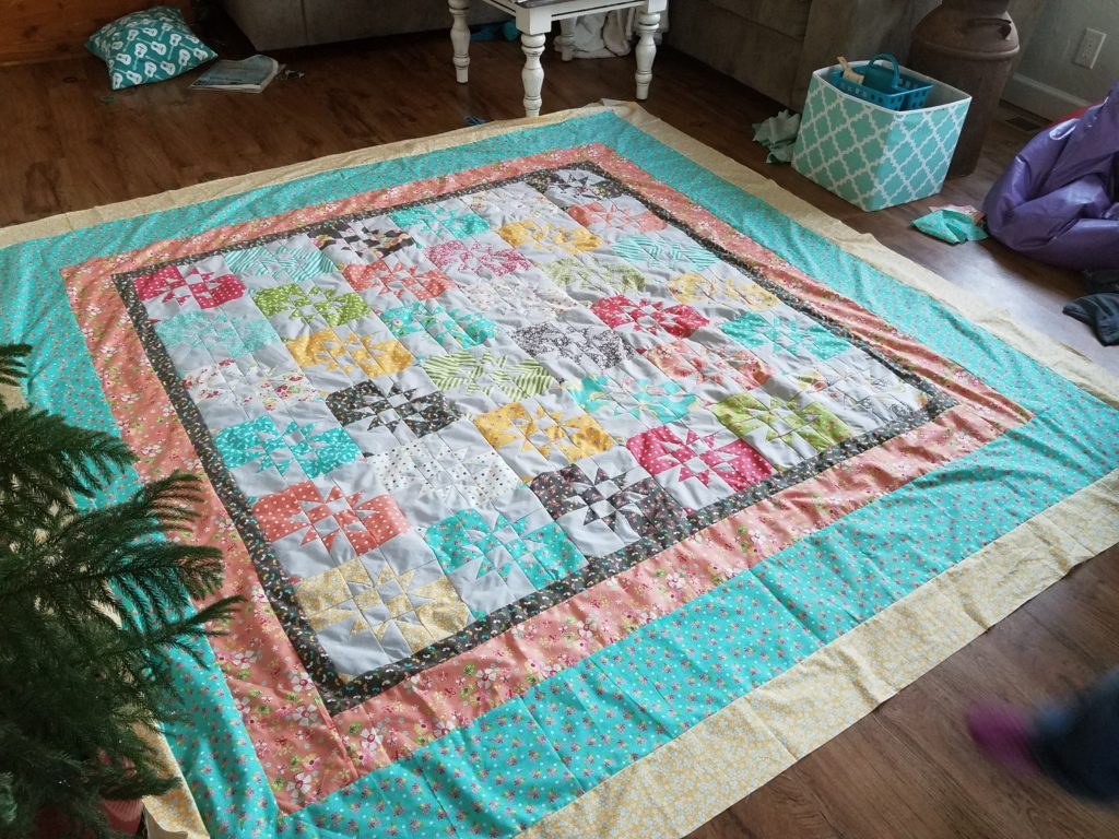 disappearing hourglass quilt, one way to complete a goal