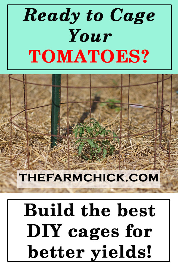 Learn how to make the best tomato cages for your plants!  Get improved yields and easier harvesting!