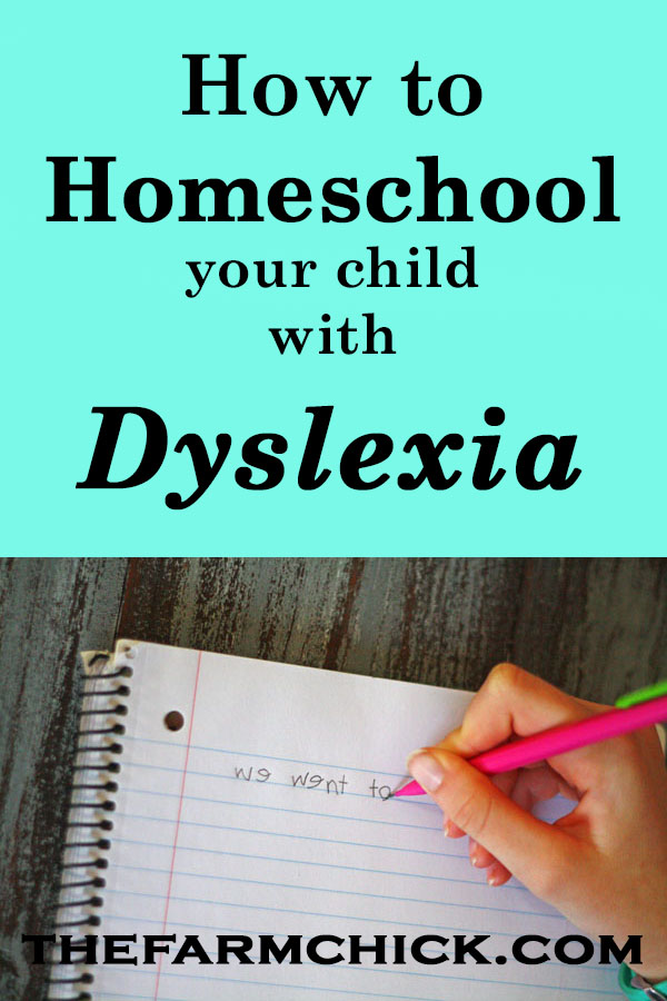 Learn how to homeschool your child with dyslexia