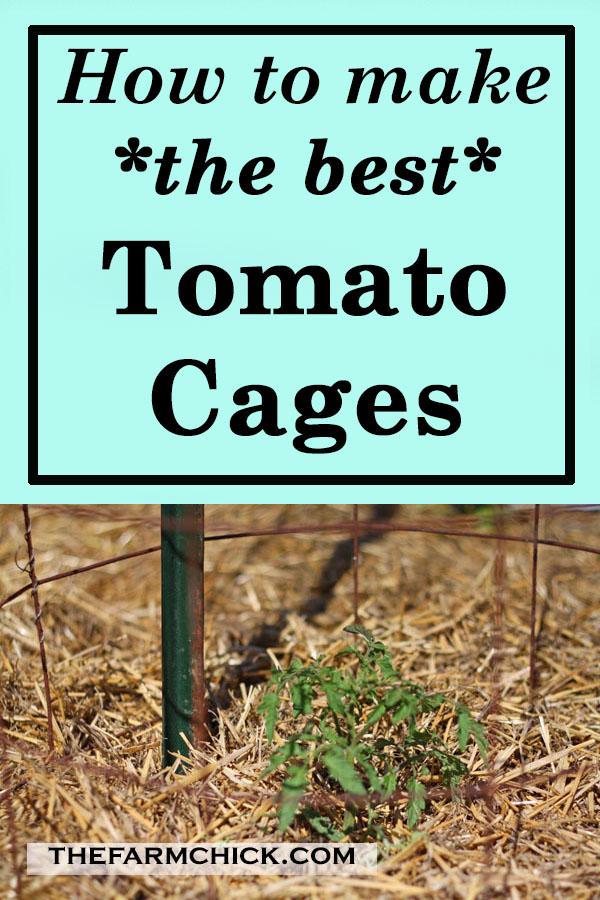 Learn how to make the best tomato cages! #tomatoes #gardening #homesteading #growingtomatoes #beginnergardener