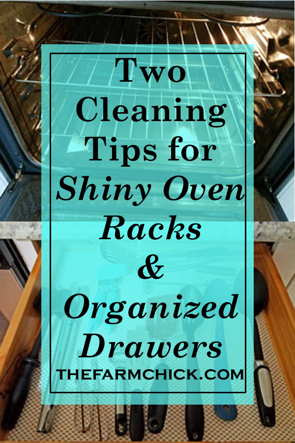 Learn two tips for shiny oven racks and organized drawers| housekeeping tips for the kitchen| homemaking tips for the kitchen
