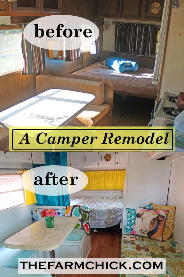 Vintage Camper Makeover| Camper Remodel| Camping| Glamping