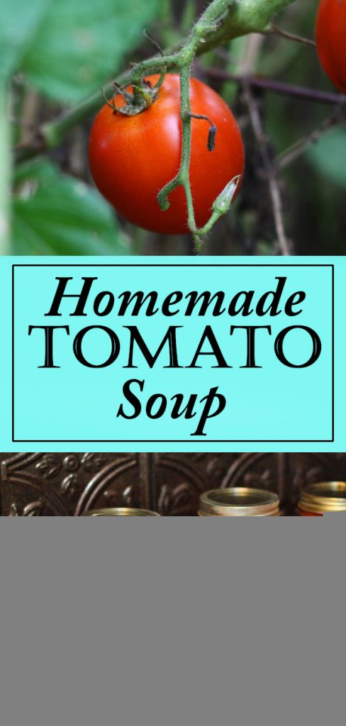 Making your own homemade tomato soup is a great way to preserve your tomato harvest!  #tomatoes  #gardening