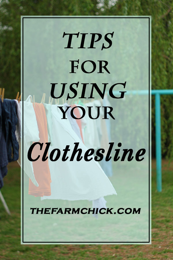 Learn how to use your clothesline the right way! #homemaking #homesteading #sustainbleliving #frugal